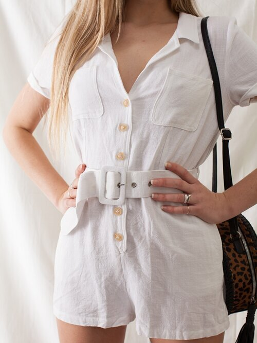 Touch Of Summer White Romper