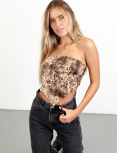 Emerson Cheetah Bandana Top