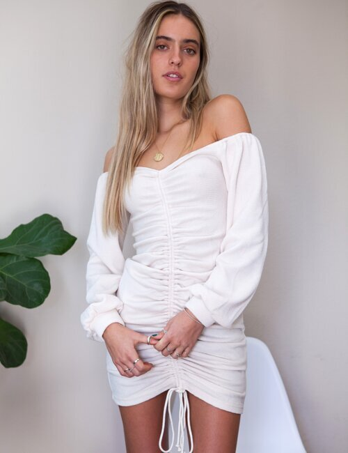 Kimmie Vanilla Cinched Dress