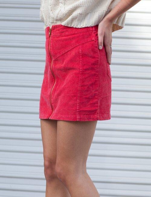 Boy Meets Girl Red Skirt
