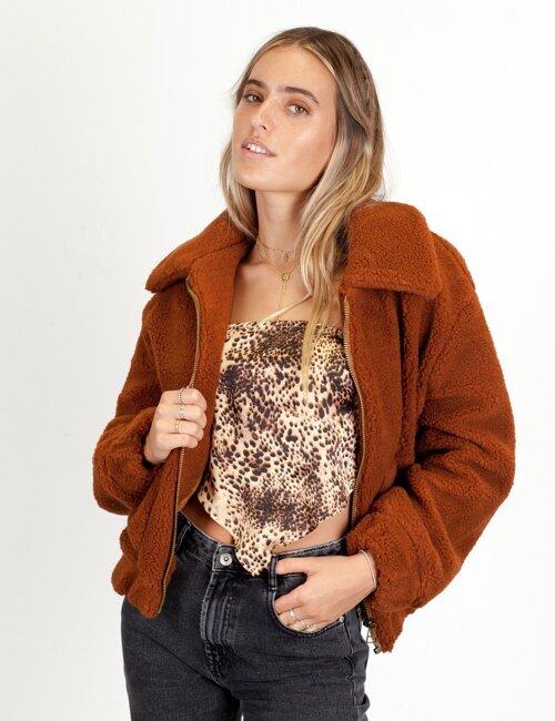 Vancouver Camel Shearling Coat