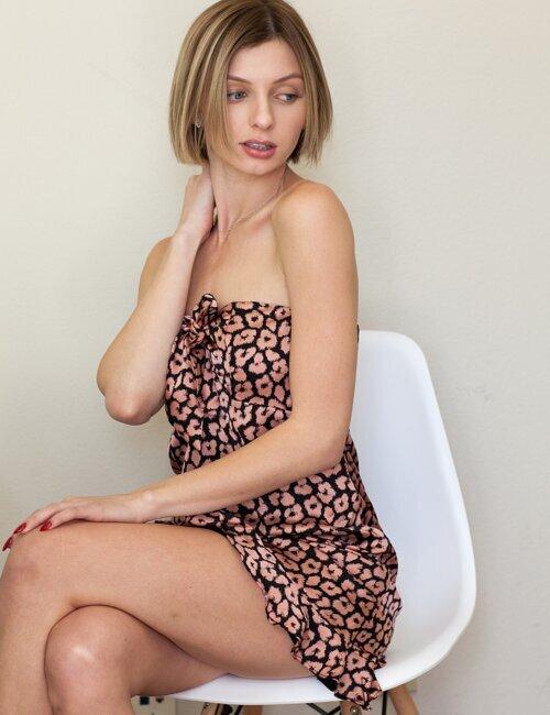 Cheyenne Pink Cheetah Dress