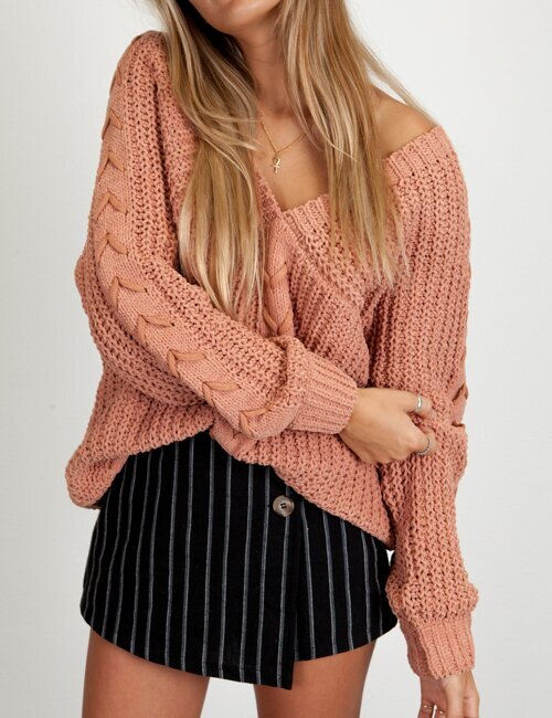 Santa Rosa Blush Knit Sweater