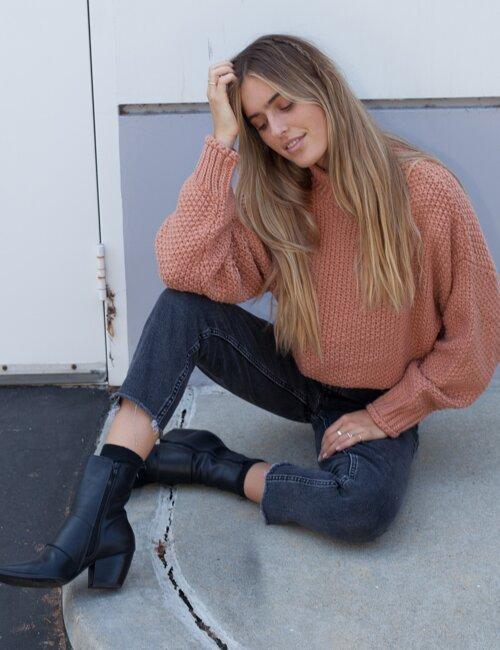Manchester Hazelnut Knit Sweater