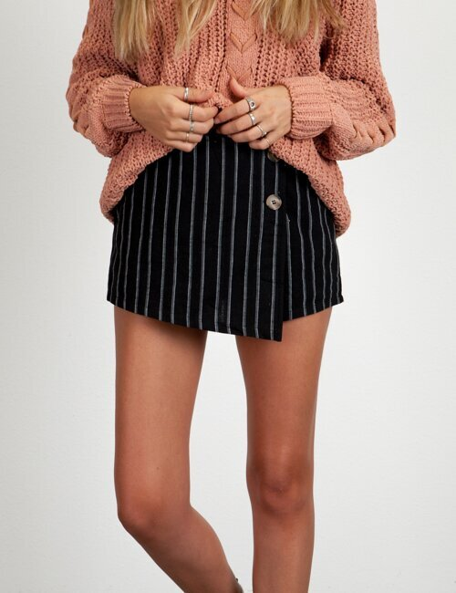 Cassadee Black Stripe Skort