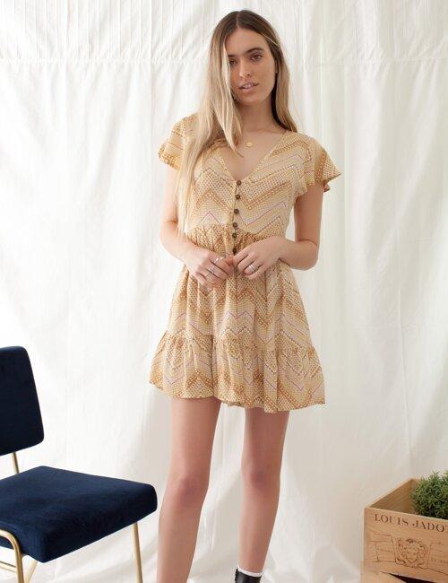 Budapest Mustard Babydoll Dress