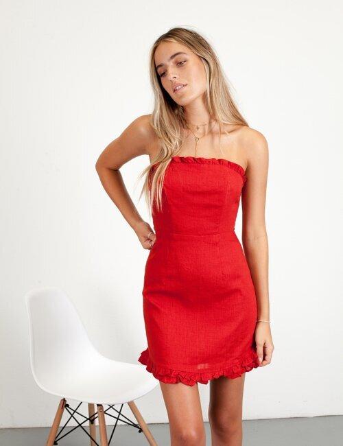 Americana Red Dress
