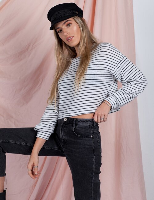 Meant To Be Stripe Long Sleeve Sweater
