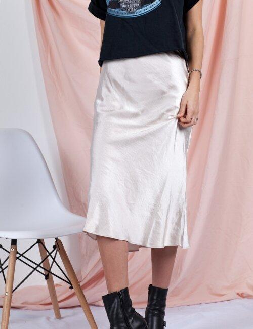 Manhattan Blush Midi Skirt