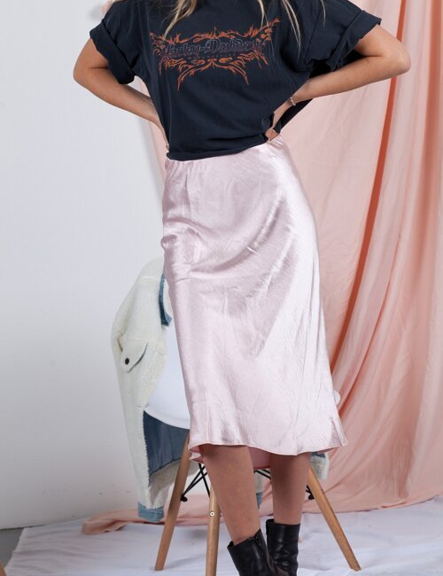 Manhattan Pink Midi Skirt