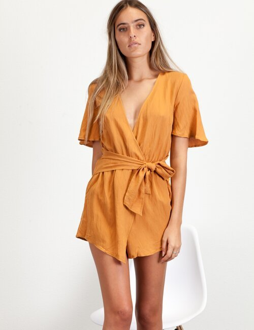 Pretty Please Orange Romper