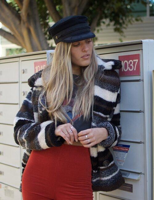 La Femme Striped Coat
