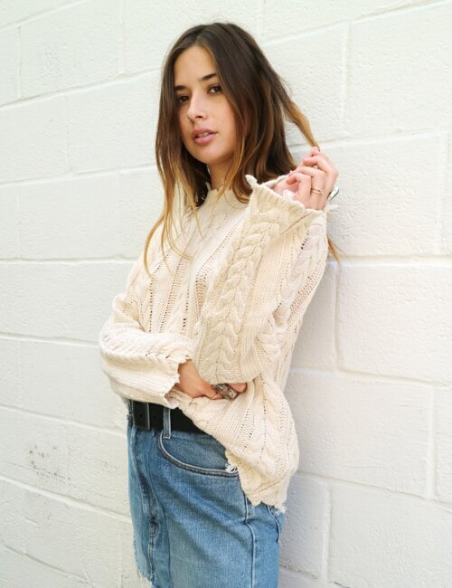 Acacia Tan Sweater
