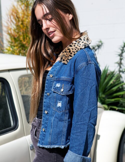 Henley Denim Jacket