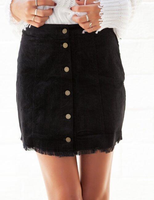 Roux Black Corduroy Skirt