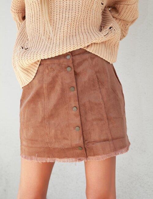 Roux Brown Corduroy Skirt