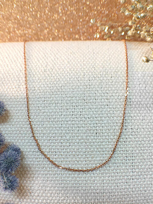 Link Chain Necklace | Solid 14K Rose Gold Chain | Rose Gold Chain | Gold Chain | 16 Inches | Spring Lock | Fine Jewelry | Free Shipping