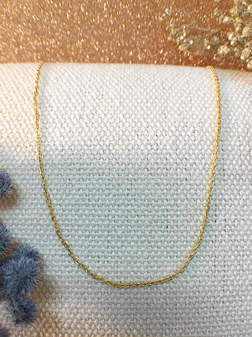 Link Chain Necklace | Solid 14K Yellow Gold Chain | Yellow Gold Chain | Gold Chain | 18 Inches | Spring Lock | Fine Jewelry | Free Shipping