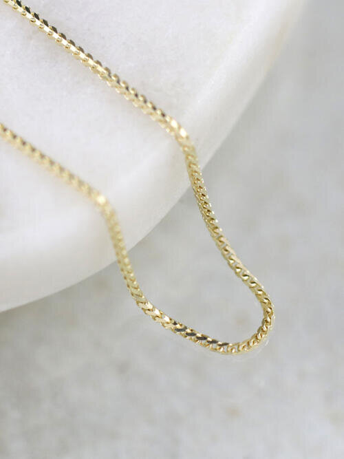 1MM Franco Solid 14K Gold Chain