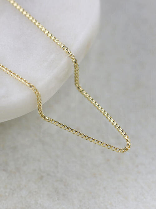 1.5MM Franco Solid 14K Gold Chain
