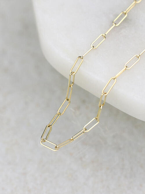 2x6.2MM Delicate Solid 14 Karat Gold Link Chain