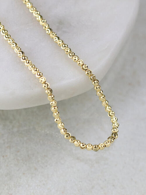 Diamond Sprinkled Ball Chain Necklace