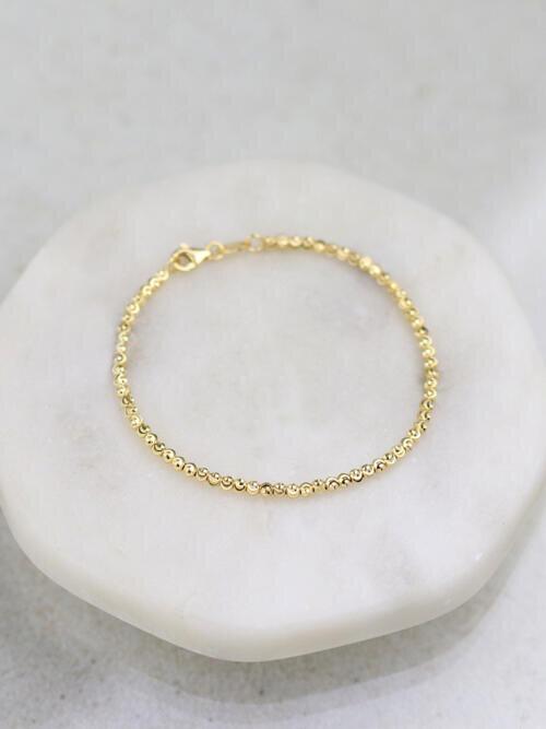 Diamond Sprinkled Ball Chain Bracelet