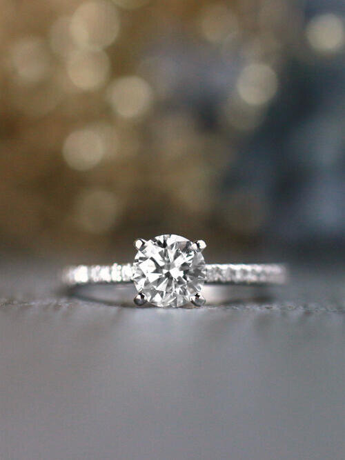 1.0CT Diamond Solitaire Solid 14 Karat Gold Engagement Ring