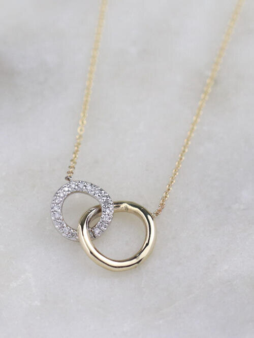 Infinity and Beyond Diamond Charm Necklace
