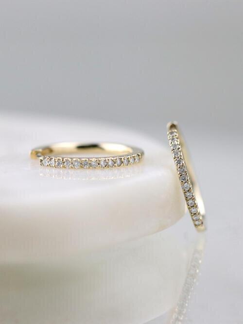 15MM Diamond Hoop Earrings
