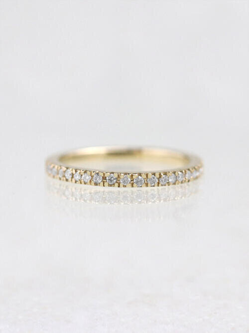 Simple Diamond Stackable Ring