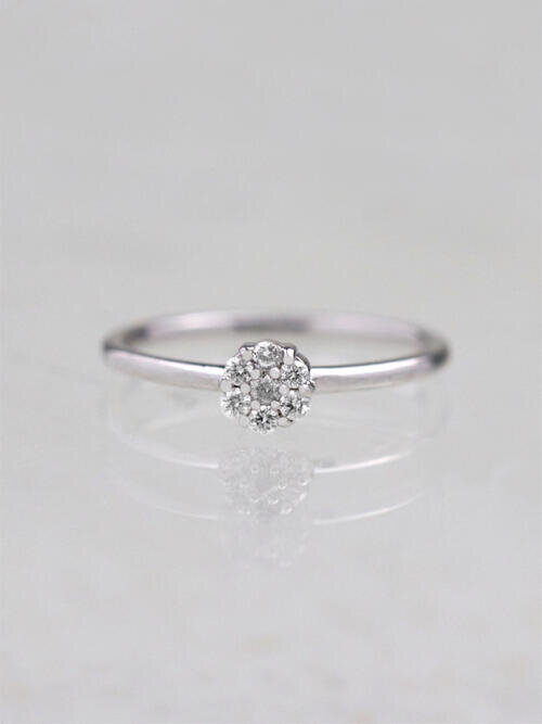 Mini Diamond Flower Cluster Ring