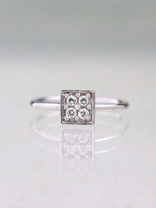 Princess Diamond Cluster Ring