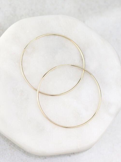 41MM Infinity Hoop Earrings
