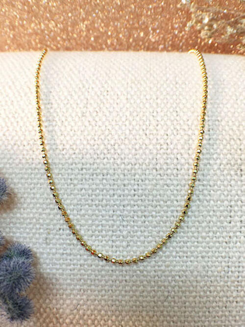 Ball Chain Necklace | Solid 14K Yellow Gold Chain | Yellow Gold Chain | Necklace Chain | 18 Inches | Spring Lock | Fine Jewelry | Free Shipping