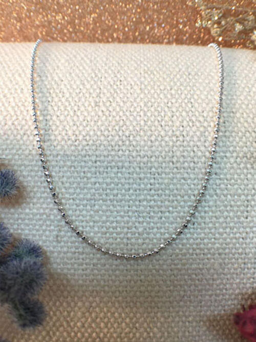 """White Gold Ball Chain Necklace 