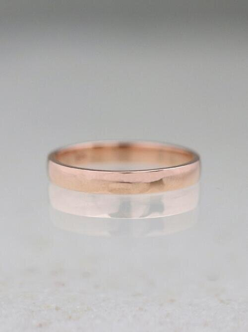 2.7MM Polished Wedding Band Solid 14K Rose Gold (14KR) Stackable Classic Women's Engagement Ring