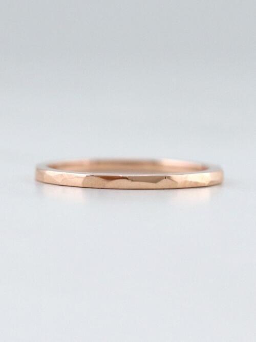 f4cb86a027f6a Chevron Deep V Solid 14 Karat Gold Stackable Ring