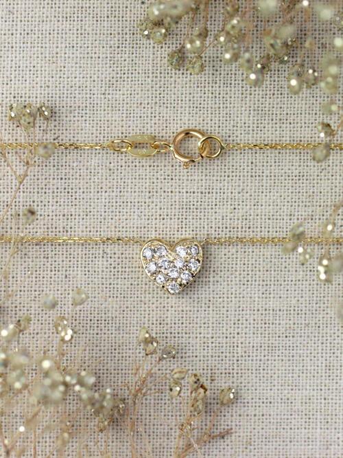 Petite Diamond Heart Necklace
