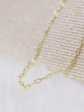 Rectangle Link Solid 14 Karat Stand Alone Chain