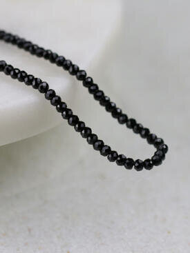 50 Inch Black Spinel Layering Chain