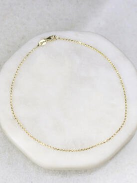 1mm Rope Chain Anklet