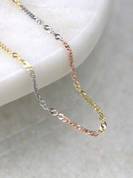 Curblink Tricolor 14 Karat Gold Chain