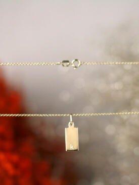 Petite Bar with Lettering Option Solid 14 Karat Gold Charm Pendant
