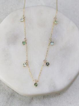 Sea Bean Tourmaline Necklace