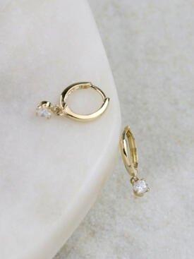 0.30ct Diamond Chandelier Solid 14 Karat Gold Huggies