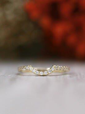 Diamond Curved Matching Solid 14 Karat Gold Band