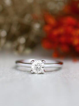 0.50CT Round Classic Solitaire Four Prong Solid 14 Karat Gold Ring