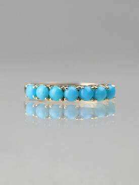 Sleeping Beauty Turquoise Solid 14 Karat Gold Band