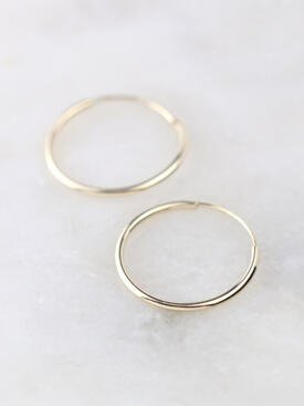 16mm Infinity Hoop Earrings